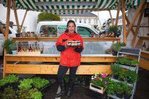 Wochenmarkt Perg mit Karin Wolf