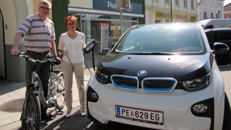 E-Bike & E-Auto beim 1. E-Mobilitätstag in Perg