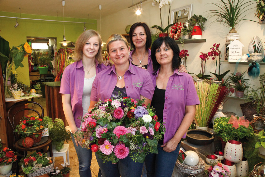 Verfkaufsteam bei Lydia's Blumenladen