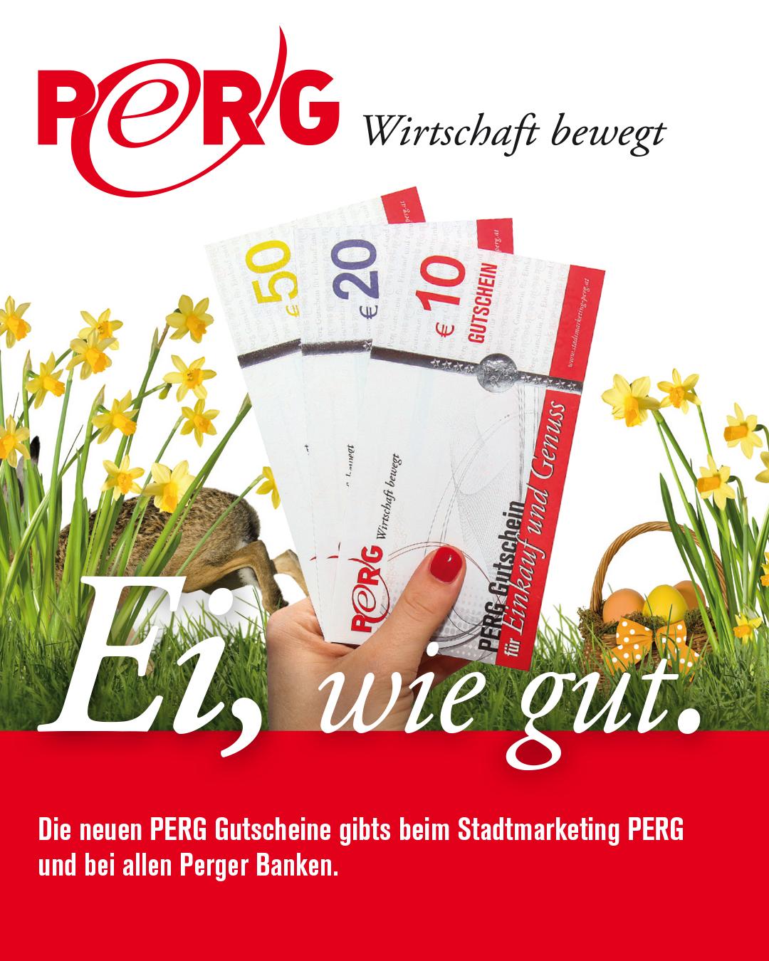 PERG-Gutschein als Oster-Geschenk
