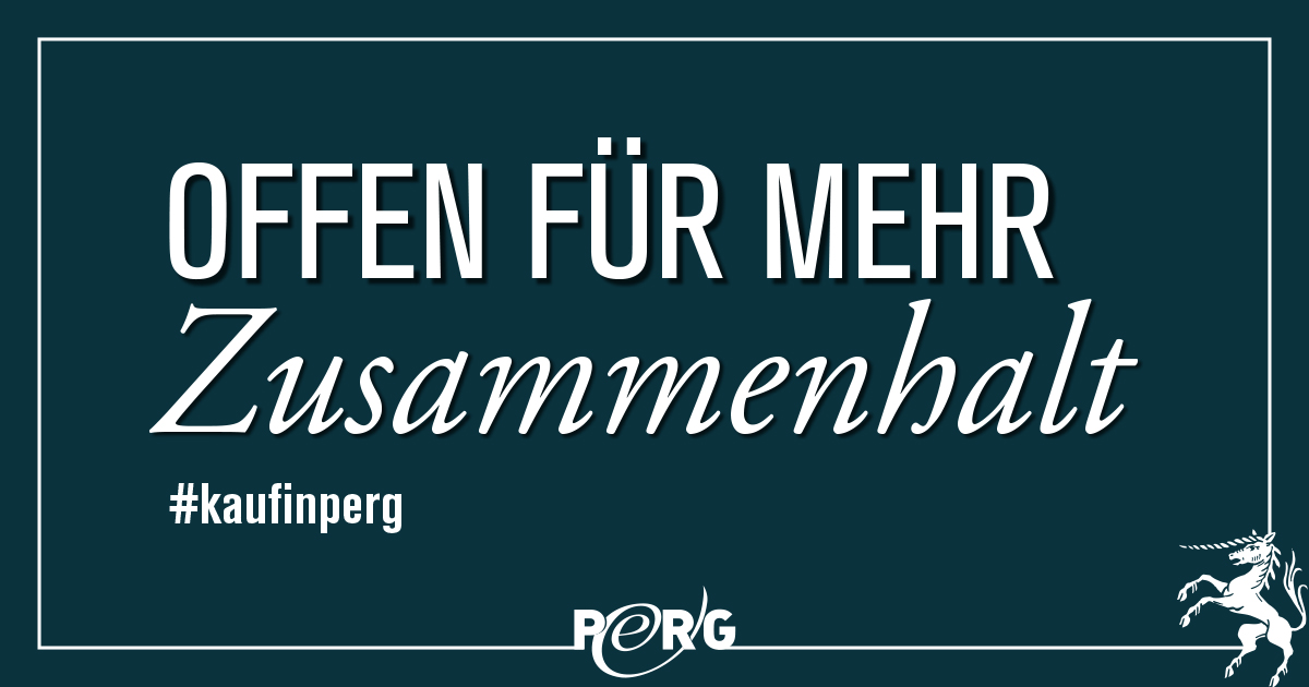 Sujet Offen für-Kampagne 2020 - Text: offen für mehr Zusammenhalt