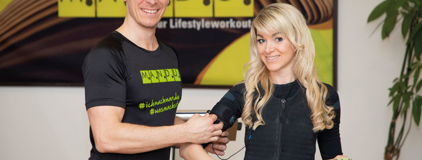 Perg-Models: Fitnesstrainer Bernhard und Katharina