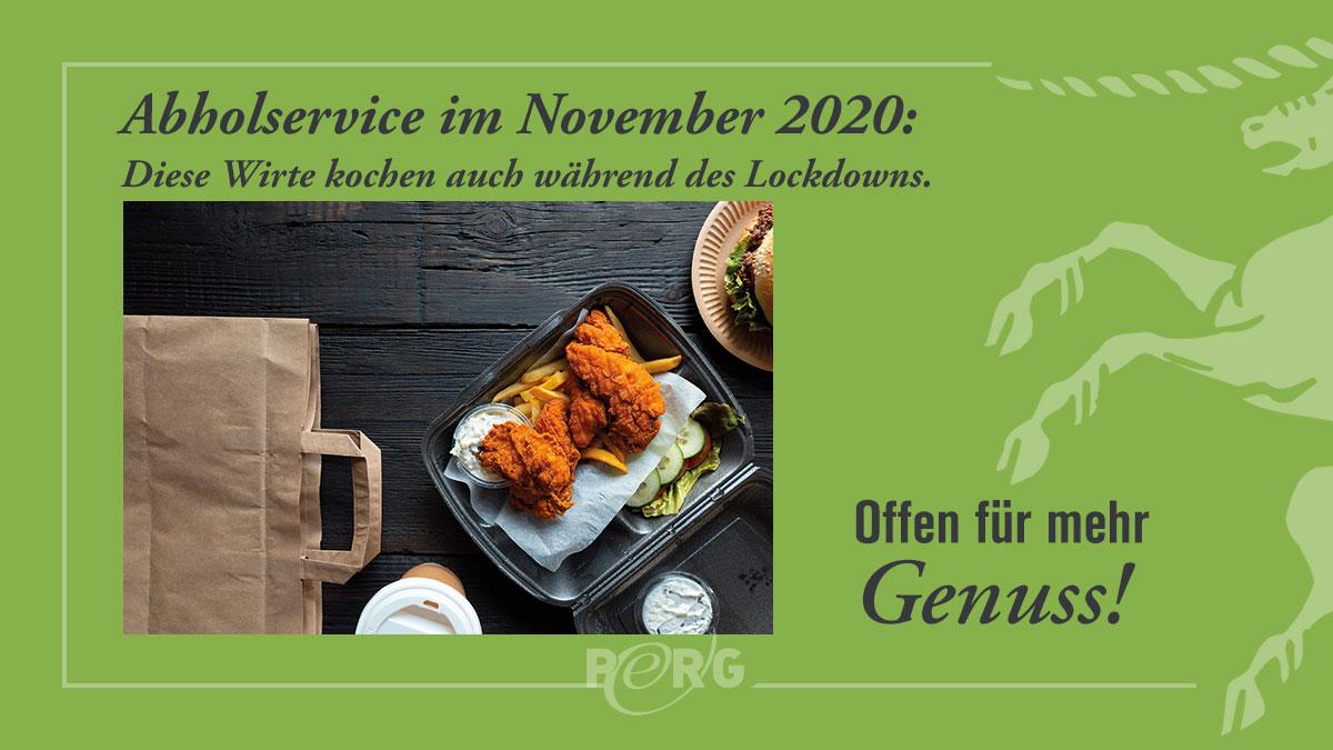 Inserat Abholservice November 2020