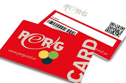 Abbildung der PERG-Card Vorder- und Rückseite