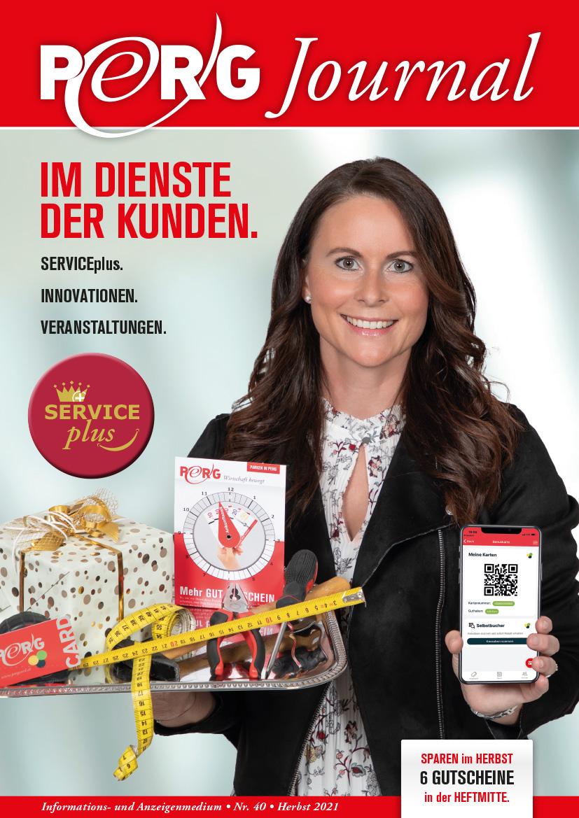 Cover PERG-Journal 40 Herbst 2021 - Im Dienste der Kunden - Serviceplus